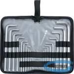 Набор ключей имбусовых HEX-TORX,  18 шт: HEX 1,5–10 мм, T10-T50, CrV, удлиненные, сатин.// MATRIX