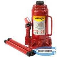 Домкрат гидравлический бутылочный SPARTA Compact 50336  12 т, h подъема 205-400 мм