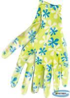 Перчатки садовые из полиэстера с нитрильным обливом, зеленые, M //PALISAD