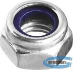 Гайка оцинкованная с нейлоновым кольцом ЗУБР  DIN 985 M4, 5 кг, кл. пр. 6