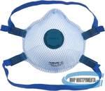 Полумаска фильтрующая коническая ЗУБР ЭКСПЕРТ  с внешней сеткой, с клапаном, многослойная, класс защиты FFP3