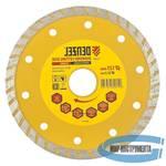 Диск алмазный отрезной Turbo, 125 х 22,2 мм, сухая резка// DENZEL