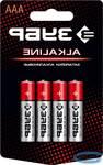Щелочная батарейка ЗУБР Alkaline 1.5 В, тип ААА, 4 шт