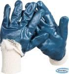 Перчатки рабочие с манжетой и нитриловым покрытием ладони ЗУБР МАСТЕР  размер L (9)