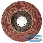 Круг лепестковый торцевой КЛТ-2, зернистость Р 80, 125 х 22,2 мм, (БАЗ)
