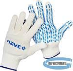 Перчатки х/б трикотажные с защитой от скольжения ЗУБР  10 класс, размер L-XL