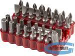 Набор бит с магнитным адаптером ЗУБР хромованадиевая сталь, 33 предмета