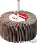"""Круг шлифовальный  веерный лепестковый на шпильке ЗУБР """"МАСТЕР"""" тип КЛО, зерно-электрокорунд нормальный, P120, 40х80мм"""
