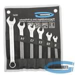 Набор ключей комбинированных 8-17 мм, 6 шт., CrV, холодный штамп // GROSS
