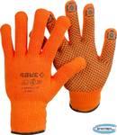 Перчатки акриловые утеплённые с защитой от скольжения ЗУБР ПРОФЕССИОНАЛ Ангара 11464-XL  10 класс, сигнальный цвет, размер L-XL