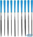 """Набор надфилей ЗУБР """"ЭКСПЕРТ"""" пластмассовая ручка, насечка 2 = Бархатная, с чехлом, 100мм, 10шт"""