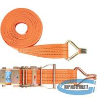 Ремень багажный с крюками, 0,05х6м, храповый механизм// STELS