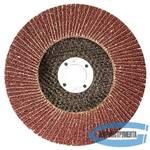 Круг лепестковый торцевой КЛТ-1, зернистость Р100(12Н), 125 х 22,2 мм, (БАЗ)