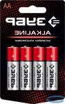 Щелочная батарейка ЗУБР Alkaline 1.5 В, тип АА, 4 шт